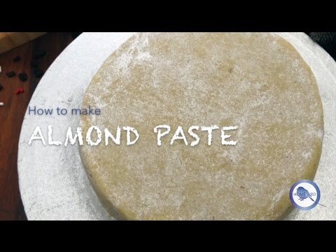 How to make easy vanilla Almond Paste recipe or Marzipan recipe for Christmas Cakes | Home Bird