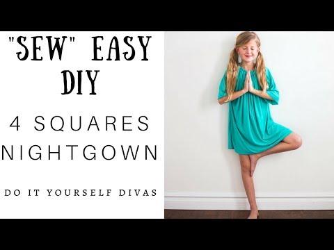 DIY 4 Squares Nightgown -