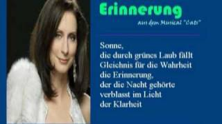 """Pia Douwes: Erinnerung (""""memory"""" From Musical """"cats""""   Lyrics In German)"""