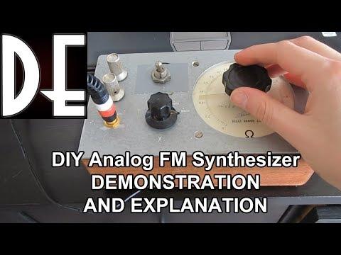 DIY Analog FM synthesizer - Demonstration and Explanation