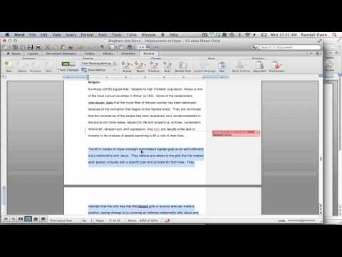 Mac OSX - Tracking Changes in Word