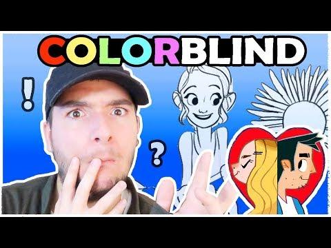 COLORBLIND ARTIST COLORS A PICTURE - Color Art Challenge