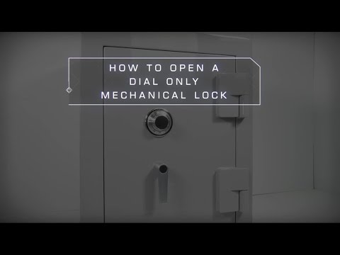 How to Open a Dial Combination Lock Safe