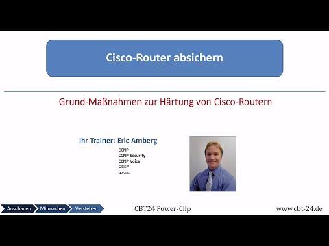 Cisco Router absichern (CBT24 Powerclip)