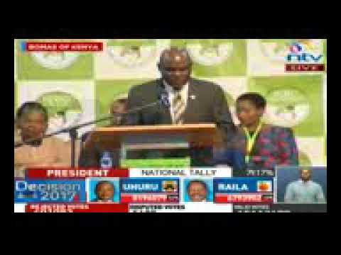 IEBC Chairman's shocking speech prior to elections results