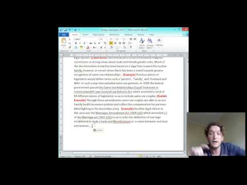 (HSC) How to Write an Essay - Body with actual examples