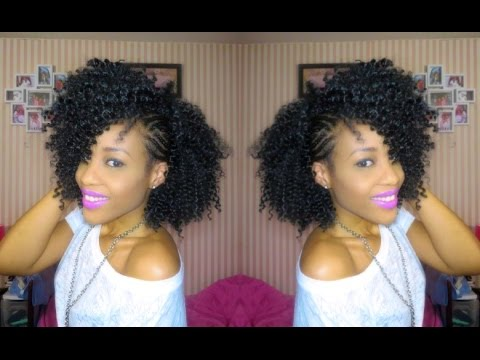Inspired Braided Side Mohawk| Natural Hair