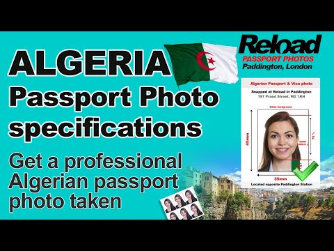 Your Algerian Passport photo & Visa Photos for Algeria snapped and printed in Paddington, London