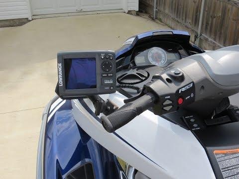 Yamaha FX PWC Jet Ski GPS Fish Finder Install + Stern Mount Transducer + Split Thru Hull Fitting