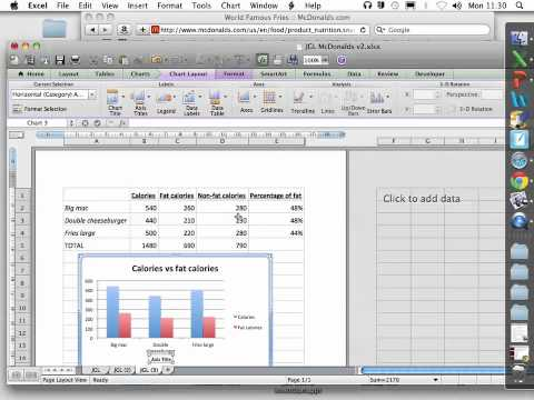 Excel Mac 2011 HOW TO draw and label graphs