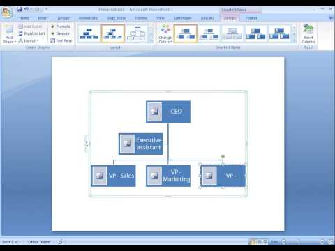 Office 2007 Demo: Create an organization chart with pictures