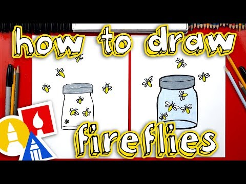 How To Draw Fireflies In A Jar