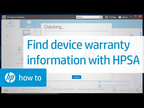Finding the Warranty Information for Your HP Device with the HP Support Assistant