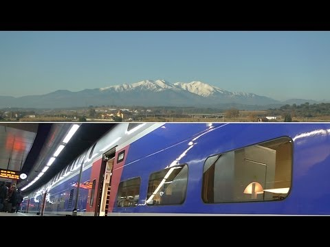 Barcelona to Paris by TGV high-speed train...