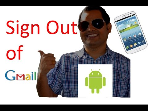 How to sign out of gmail in android phone