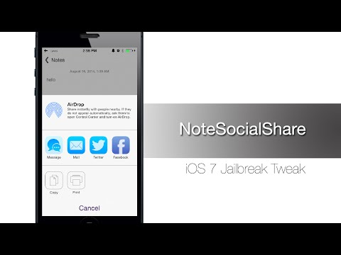 NoteSocialShare allows you to share notes on Twitter and Facebook - iPhone Hacks