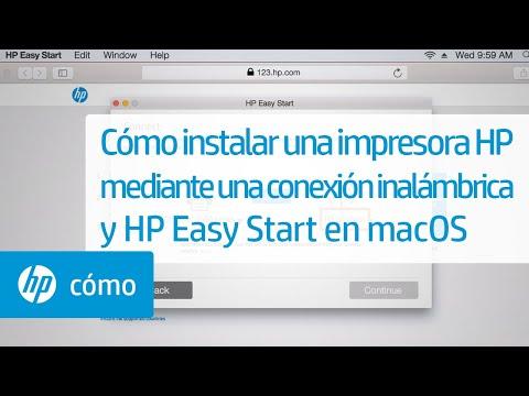 Cómo instalar una impresora HP mediante una conexión inalámbrica y HP Easy Start en macOS