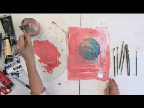 Transparency Technique for Acrylic Painting : Painting Techniques