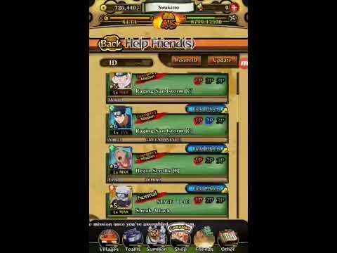 Naruto Blazing Attack & Health Boost game play