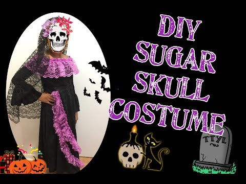 Diy sewing Sugar skull Day of the Dead  La Calavera Catrina Halloween costume # sewing project No.18