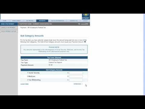 Making Federal Tax Deposit Payment Using EFTPS.GOV