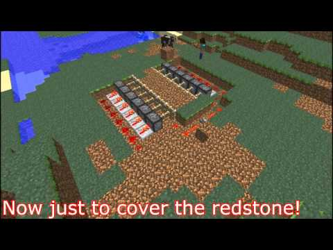 Minecraft- How To Make a secret hideout/house with redstone! T&T