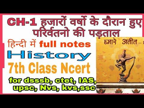 History 7th class-Ncert Book 📖 CH-1 हजारों वर्षो में हुए परिवर्तनो की पड़ताल
