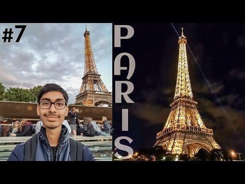#7. India To Europe Trip - Day 2 | Paris City Tour On a Cruise + Eiffel Tower illumination| France