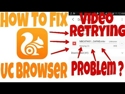 how to resume a retrying video download in uc browser