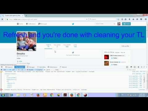 How to delete all tweets and retweets in single click