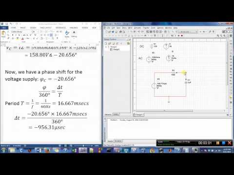 How to use Multisim Oscilloscope on a RC Series Circuit