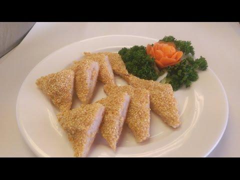 How to make sesame prawn  toast (pro.)