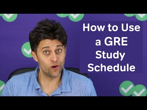 How to Use a GRE Study Schedule