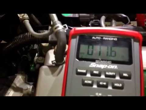 Check ohms for an injector on a 2001 Honda Accord EX sedan