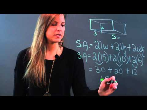 How to Figure the Surface Area of a Rectangle & a Cylinder
