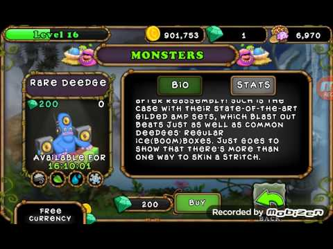 My singing monsters how to breed rare deedge