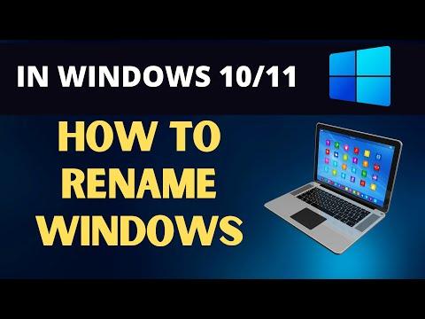 How to Rename Windows 10