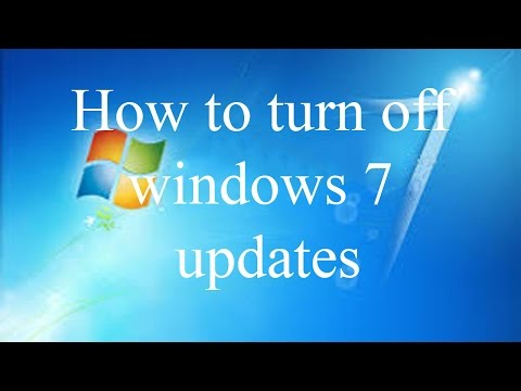 how to turn off windows 7 updates completely