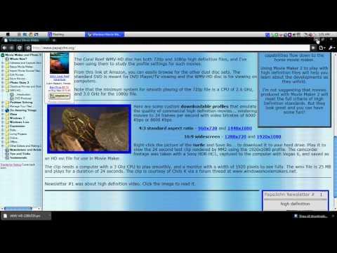 HD Video In Windows Movie Maker Tutorial HD (WindowsMovieMakerTutorial)