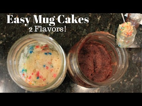 Easy Microwave Mug Cake: 1 Minute Chocolate and Vanilla (Funfetti) Mug Cake Recipes