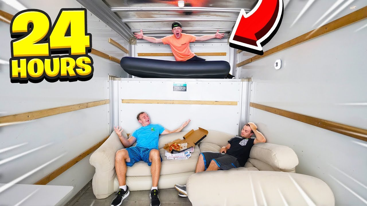 SPENDING 24 HOURS IN A MOVING TRUCK!