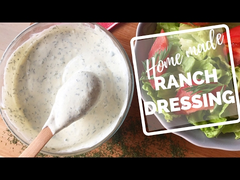 How To Make Ranch Dressing At Home - easy recipe