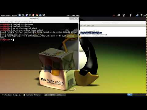 How to change your hostname in Kali Linux
