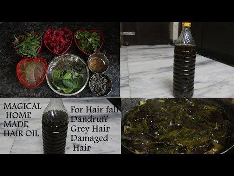 Magical Homemade Hair Oil For  Hairfall, Premature Greying, Dandruff, Split Ends, Damaged Hair