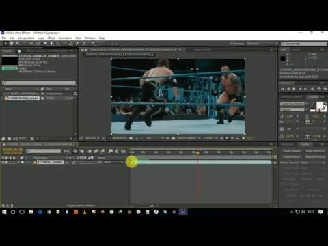 How to cut videos in Adob after effect CS6