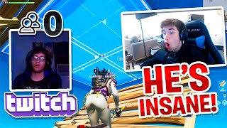 I 1v1'd Twitch Streamers with 0 VIEWERS on Fortnite... (THEY WERE INSANE)