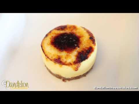 Creme Brulee Cheesecake at Dandelion Cheesecakes