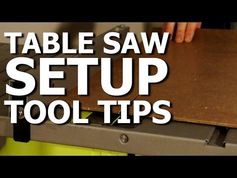 Table saw setup - DIY Tool tip