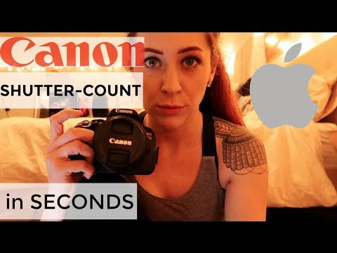 How to Find Shutter Count on Canon FAST! 2017 for Mac