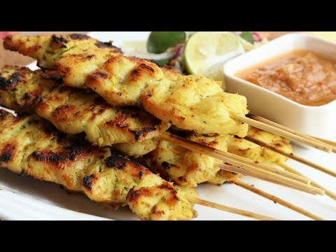 My ❤ Thai Recipes: Satay Chicken w/ Peanut Dipping Sauce!